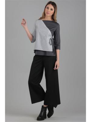 Блузка ЭНСО. Цвет: серый