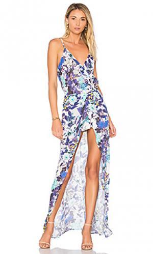 Платье с принтом aculina Karina Grimaldi. Цвет: синий