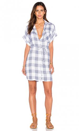 Платье на пуговицах savannah Rails. Цвет: синий