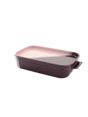 Керамическая кастрюля квадратная 1,7 Л Augustin Welz. Цвет: фиолетовый, розовый