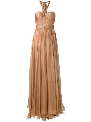 Платье Made Maxi Maria Lucia Hohan. Цвет: коричневый