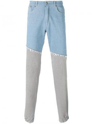 Прямые спортивные брюки Andrea Crews. Цвет: серый
