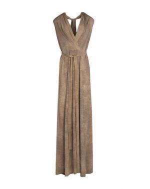 Длинное платье BORBONESE. Цвет: хаки