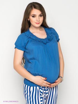 Блузка Gemko. Цвет: синий
