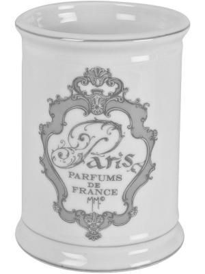Стакан для зубных щеток керамический 8см Париж. Mathilde M. Цвет: белый, черный