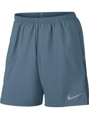 Шорты M NK FLX CHLLGR SHORT 7IN Nike. Цвет: серо-голубой