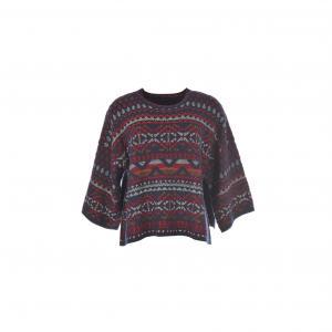 Пуловер с графическим жаккардовым рисунком Ohé RENE DERHY. Цвет: темно-синий/ красный