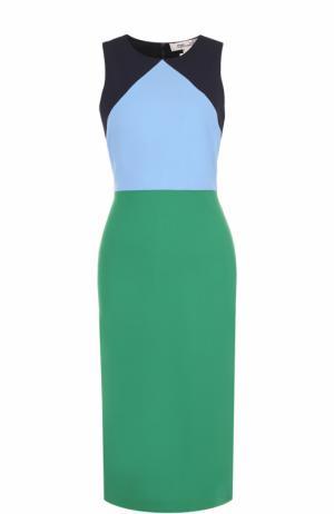Платье-футляр без рукавов Diane Von Furstenberg. Цвет: разноцветный