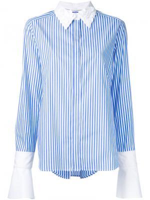 Рубашка с декорированным воротником Muveil. Цвет: синий