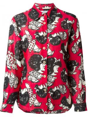 Рубашка Mafalda с анимационным принтом Jc De Castelbajac Vintage. Цвет: многоцветный