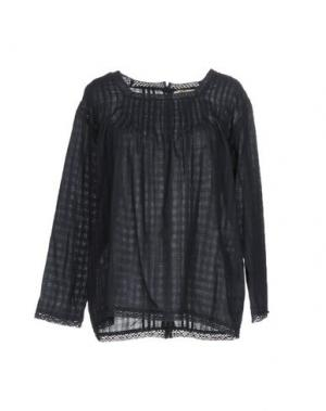 Блузка LOCAL APPAREL. Цвет: темно-синий
