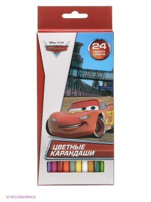 Карандаши Disney Тачки, 24 цвета Играем вместе. Цвет: красный