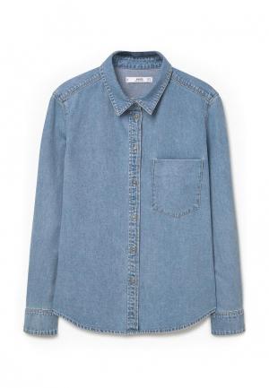 Рубашка Mango. Цвет: голубой