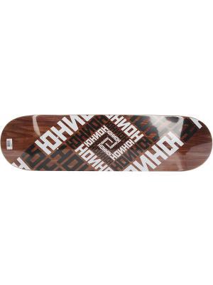 Профессиональный скейтборд Team Brown, размер 8,25x31,85, конкейв Medium Юнион скейтборды. Цвет: черный, белый, коричневый
