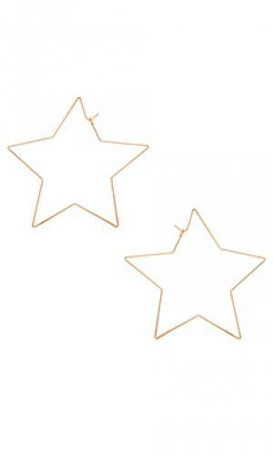 Нитевидные серьги stargirl 2 8 Other Reasons. Цвет: металлический золотой