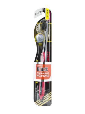 Зубная щетка Black Ultra Slim мягкая DENTALPRO. Цвет: красный