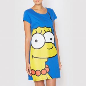 Рубашка ночная Marge Simpson SIMPSONS. Цвет: синий