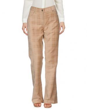 Повседневные брюки BURBERRY. Цвет: верблюжий