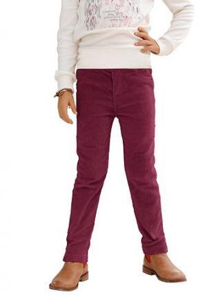 Вельветовые брюки CFL KIDOKI. Цвет: бордово-красный