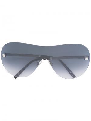 Солнцезащитные очки с градиентными стеклами Boucheron. Цвет: металлический