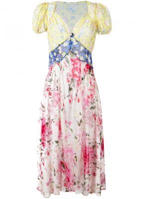 Платье с цветочным принтом Attico. Цвет: многоцветный