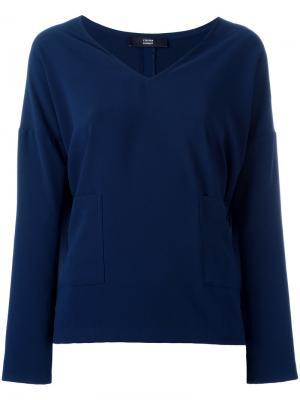 Блузка с V-образным вырезом Steffen Schraut. Цвет: синий