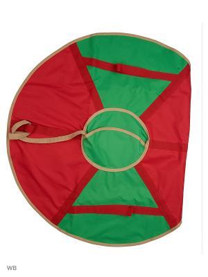 Санки надувные Ватрушка Метиз. Цвет: зеленый, красный
