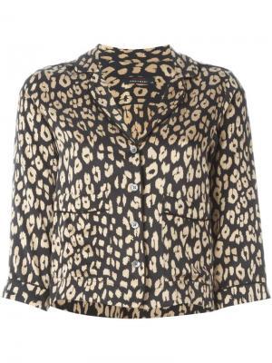 Блузка с леопардовым принтом Equipment. Цвет: чёрный