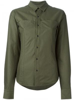 Рубашка с укороченными рукавами A.F.Vandevorst. Цвет: зелёный