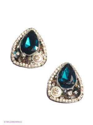 Серьги Lovely Jewelry. Цвет: синий, серебристый, прозрачный, золотистый, белый