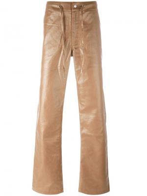 Брюки на шнурке Telfar. Цвет: коричневый