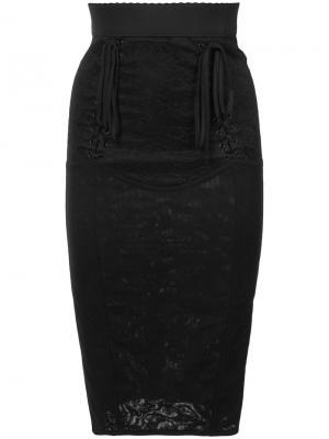 Юбка-карандаш с корсетной вставкой Dolce & Gabbana. Цвет: чёрный
