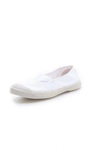 Теннисные кроссовки Elastique Bensimon. Цвет: белый