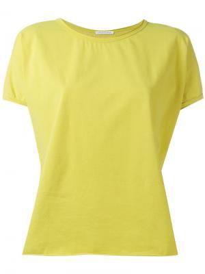 Short sleeve curved hem T-shirt Stefano Mortari. Цвет: зелёный