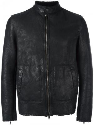 Zip-up leather jacket Salvatore Santoro. Цвет: чёрный