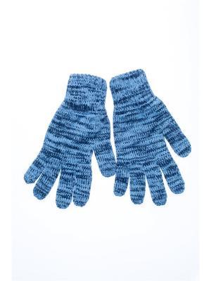 Перчатки FOMAS. Цвет: серо-голубой, синий