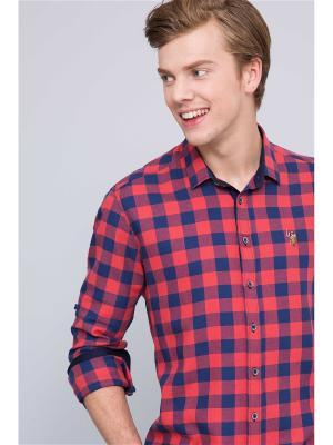 Рубашка U.S. Polo Assn.. Цвет: темно-синий, красный