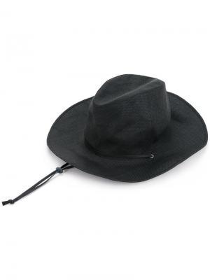Ковбойская шляпа с завязками Kijima Takayuki. Цвет: чёрный