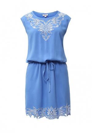 Платье Indiano Natural. Цвет: голубой