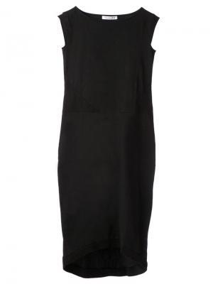 Платье без рукавов 00:00:Mm Midnight Methods. Цвет: чёрный