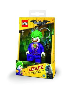 Брелок-фонарик для ключей LEGO Batman Movie (Лего Фильм: Бэтмен)-Joker. Цвет: зеленый,фиолетовый,желтый,белый
