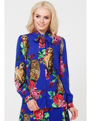 Блузка MARY MEA. Цвет: синий