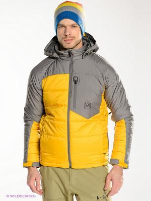 Куртка Burton. Цвет: серый, желтый