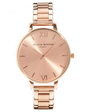 Olivia Burton Наручные часы с большим циферблатом цвета розового золота Burto. Цвет: золотой