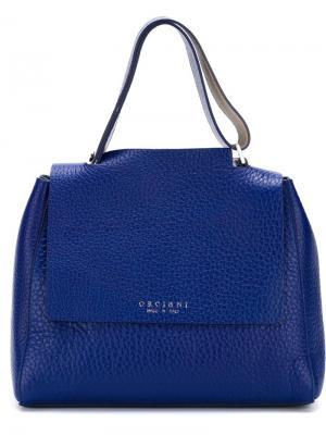 Маленькая сумка-тоут Orciani. Цвет: синий