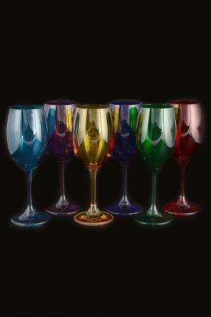Набор бокалов для вина 250 мл Crystalite Bohemia. Цвет: прозрачный