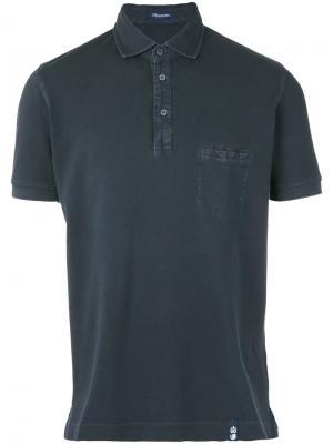 Рубашка-поло с нагрудным карманом Drumohr. Цвет: чёрный