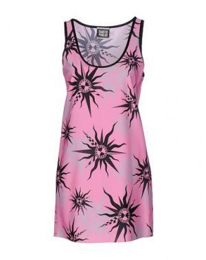 Короткое платье FAUSTO PUGLISI. Цвет: светло-фиолетовый