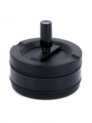 Пепельница  круглая S.QUIRE. Цвет: черный, серебристый
