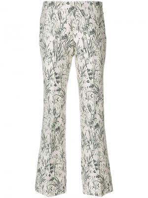 Жаккардовые брюки Giambattista Valli. Цвет: белый